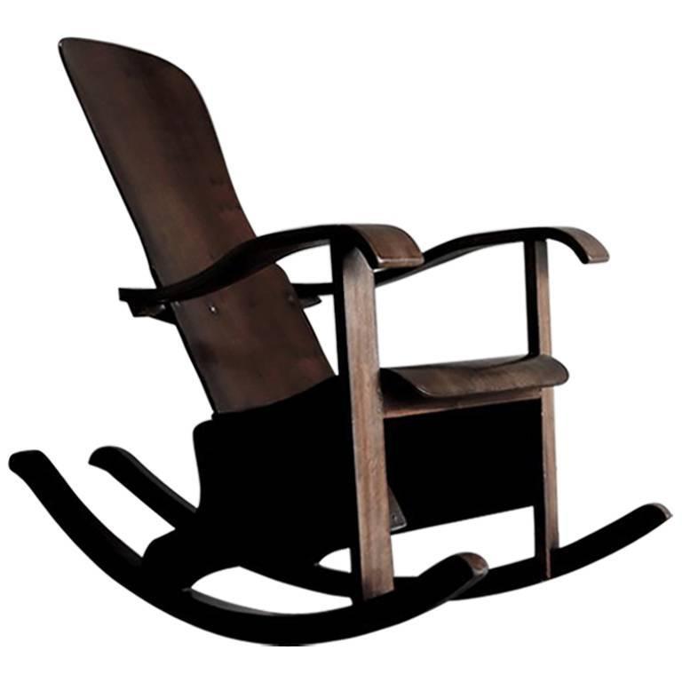 Brazilian Rocking Chair by CIMO, 1930s