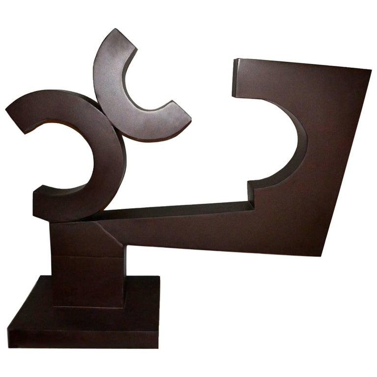 Abstract Steel Sculpture Titled Runaway Cs By Moira Fain For Sale At 1stdibs