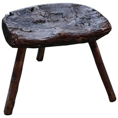 Primitive Stool with Three Legs from Africa