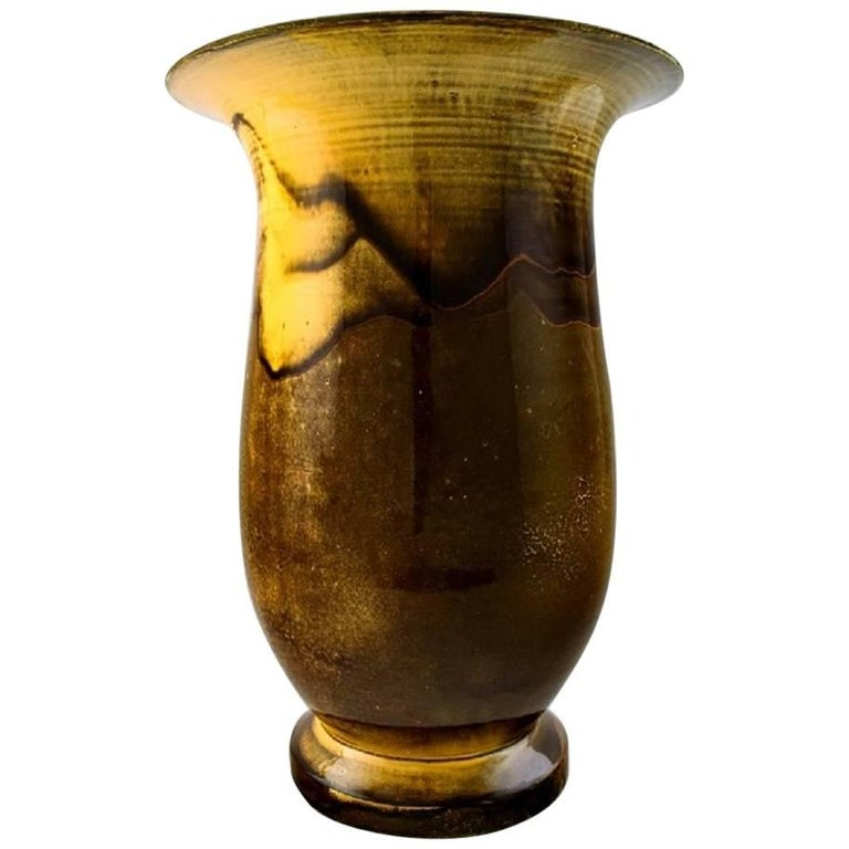 Large Kähler, Denmark, Svend Hammershøi/Hammershoi, Glazed Large Vase