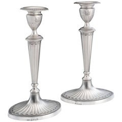 Unusual Pair of George III Candlesticks Made by John Parsons & Company