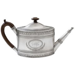 A George III Teapot by Benjamin Mountigue made in London in 1787