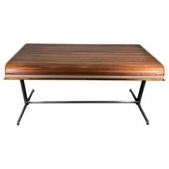 Early Modernist George Nelson Tambour Roll Top Desk, 1964