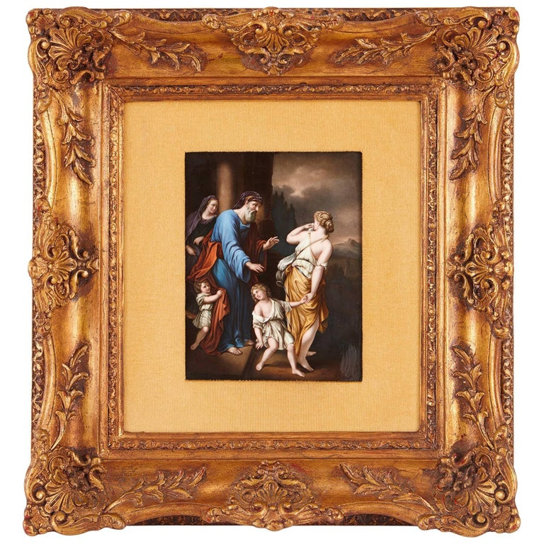 19th Century KPM Porcelain Plaque, After Old Master Painting For Sale