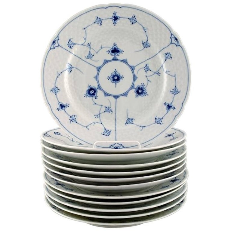 industry blue fluted plates - 768×768
