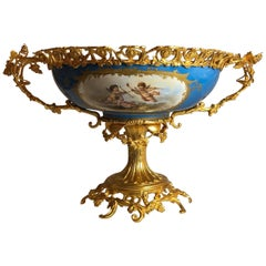 Antique Gilt Bronze-Mounted Sèvres Centrepiece, French, circa 1870