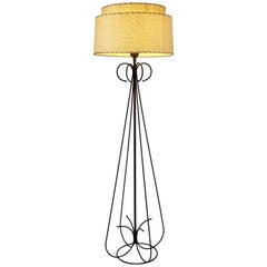 1950s Wire Floor Lamp in the Style of Tony Paul, USA