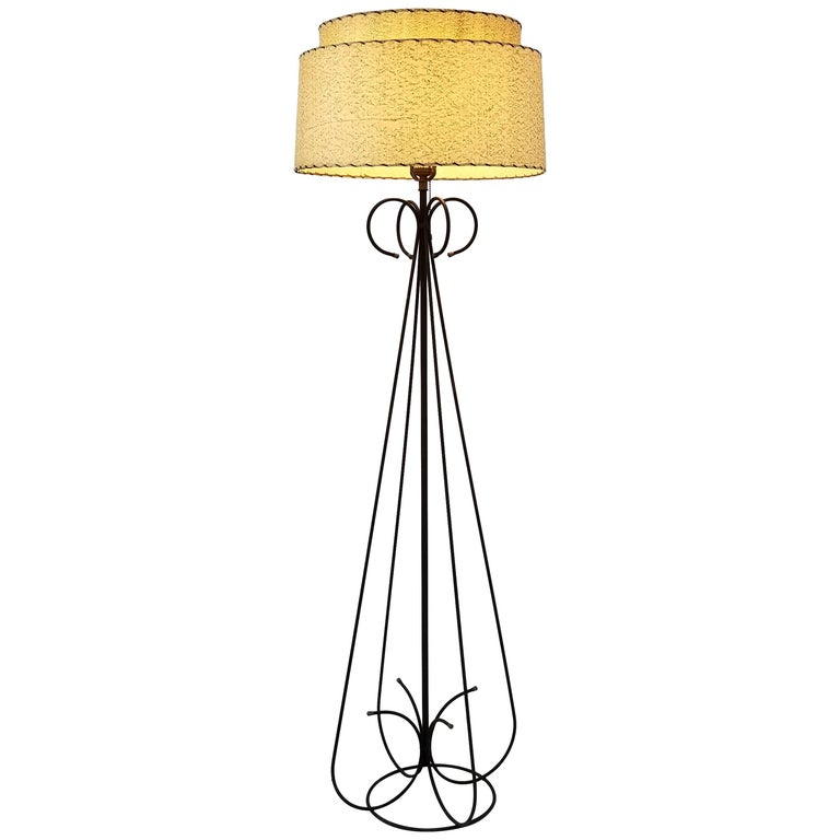 1950s Wire Floor Lamp in the Style of Tony Paul, USA For Sale