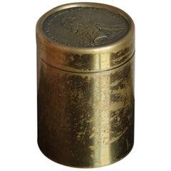 Carl Auböck Cylindrical Brass Pot