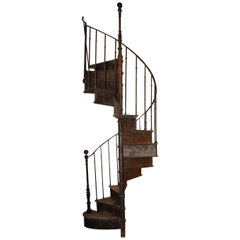 Early 20th Century, French Spiral Staircase by B. Gilardi