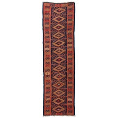 Old Kilim Turkish Runner Sharkoy