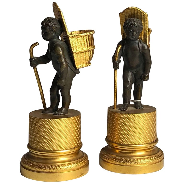 Early 19th Century Pair of Cherub Match Strikers, French, circa 1830