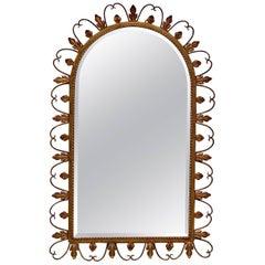 Hollywood Regency Beveled Edge Wall Mirror, circa 1950s