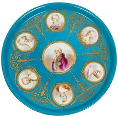 Antique Sevres Porcelain Charger of Louis XVI, 18th Century