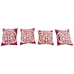 Suzani Pillow Cases Fashioned from a Vintage Samarkand Suzani