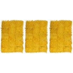 Three Solar Yellow Rugs Silifchi Konya in Different Sizes