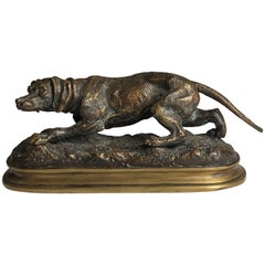 19th Century Bronze Hunting Dog by Jules Moigniez, circa 1870