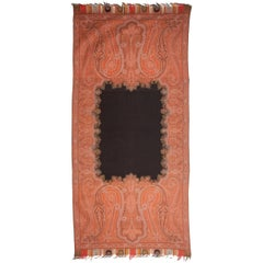 19th C. European Jaquard Paisley Shawl in the sytle of Kashmir Shalws