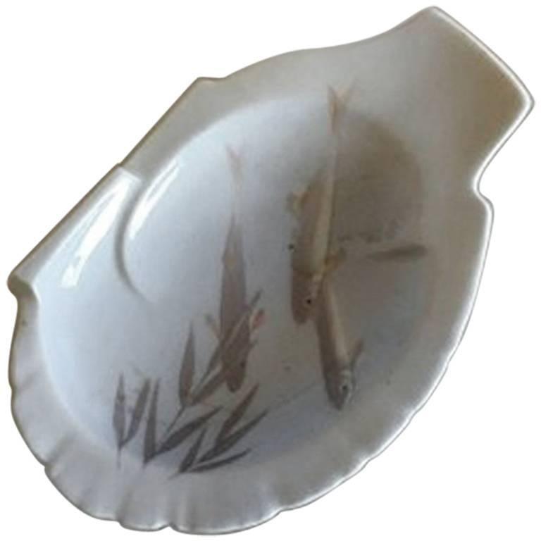 Royal Copenhagen Art Nouveau Bowl #6/12 with Fish