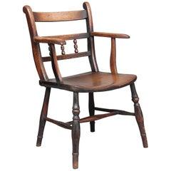 19th Century Elm & Ash Armchair