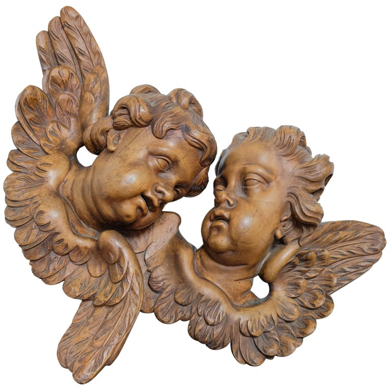 Carved Cherubs, Late 1800s For Sale