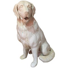 Midcentury Vallauris Ceramic Dog Golden Retriever Type