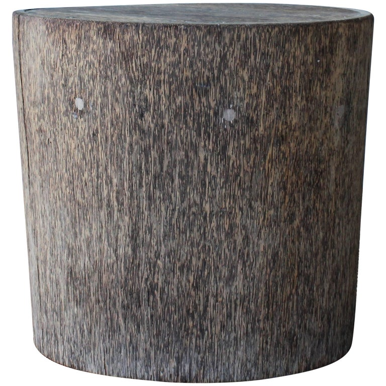 Vintage Indonesian Palm Wood Side Table For Sale