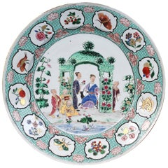 Chinese Export Famille Rose 'Pronk Arbor' Dish, circa 1738-1740
