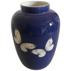 Royal Copenhagen Art Nouveau Vase with Butterflies