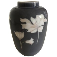Royal Copenhagen Art Nouveau Vase with Pink Flowers #97/18