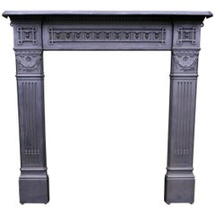 Large 19th Century Cast Iron Fire Place