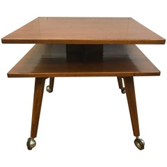 Swedish DUX Midcentury Two-Tiered Table
