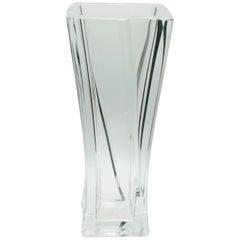 Daum France Large Crystal Vase Signed to the Base,