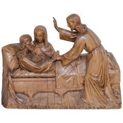 Religious Carving 'Death of St. Joseph'