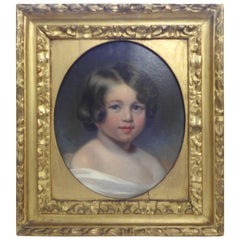 19th Century Oil on Canvas Portrait of Sewanee Student