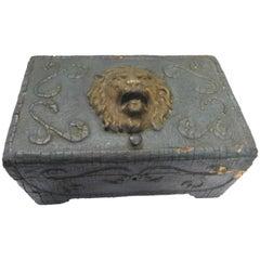 Late 19th Century Art Nouveau Lions Head Box