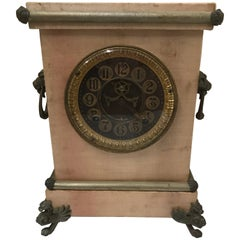 Late 19th Century Ansonia Mantel Clock with Satin Finish