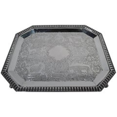Fine Antique Coin Silver Salver Tray by Gale & Hayden in New York