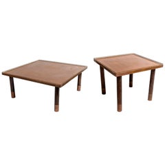Copper and Brass End Tables 'Two Sets - Two Sizes'