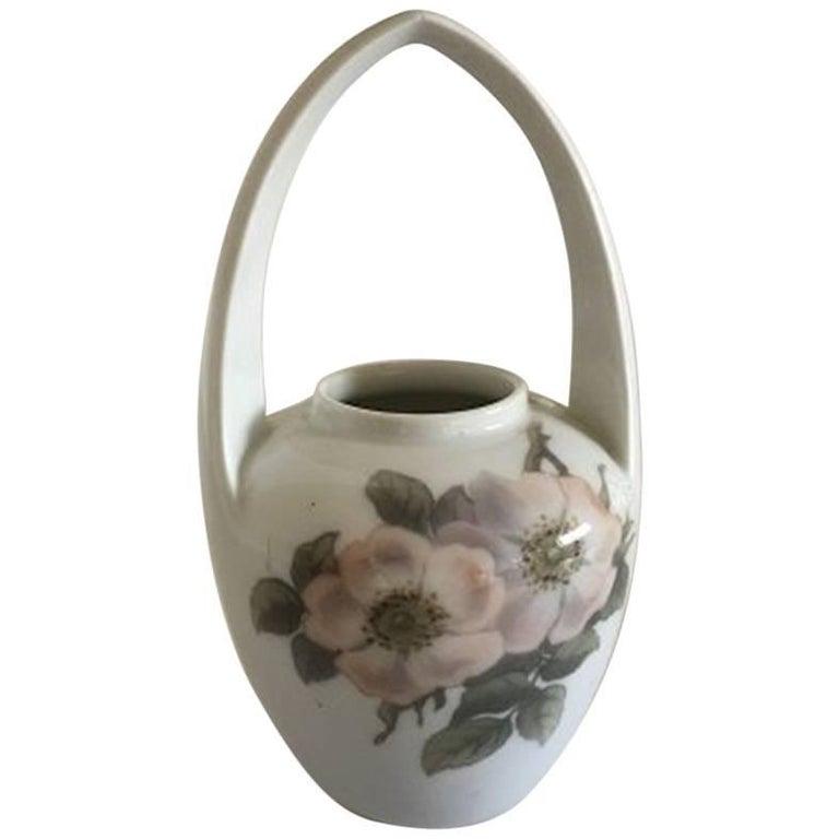 Paris Porcelain Art Nouveau Period Lamp Chinese Taste: Royal Copenhagen Art Nouveau Vase With Handle #173/29 For