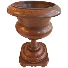 19th Century Turned Oak Urn