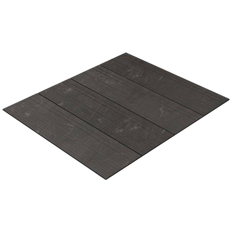 Salvatori Filo Flush 4 / 100 Shower Tray in Raw Texture Pietra d'Avola Stone For Sale