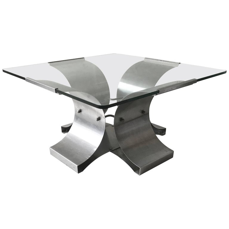 Francois Monnet Brush Steel Coffee Table