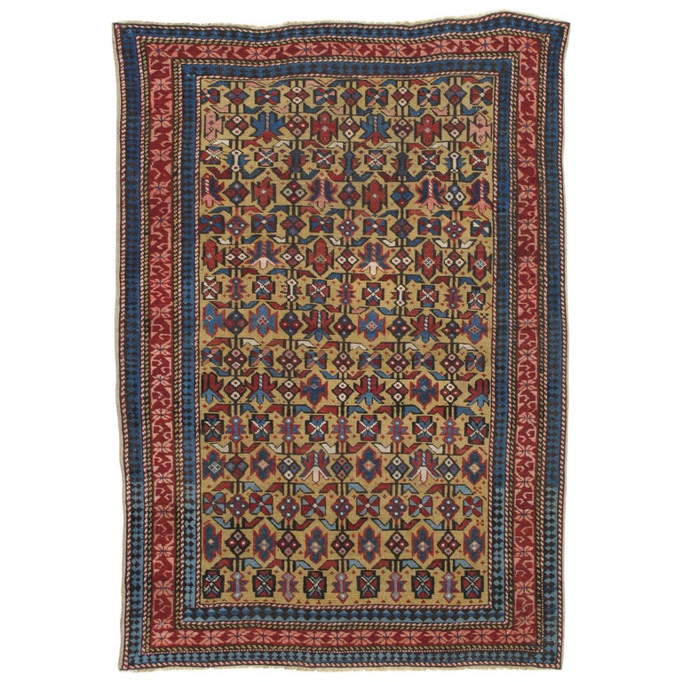 Antique Shirvan Rug, circa 1880 Hand Knotted, Wool Oriental Rug For Sale