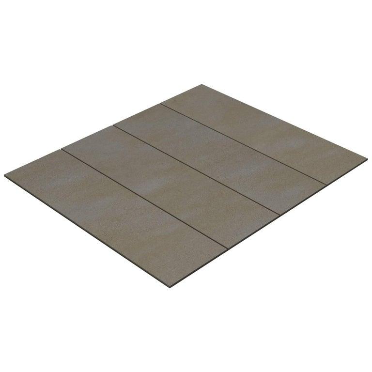 Salvatori Filo Flush 4 / 100 Shower Tray in Sandblasted Piombo Stone For Sale
