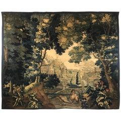 Monumental Flemish Verdure Tapestry