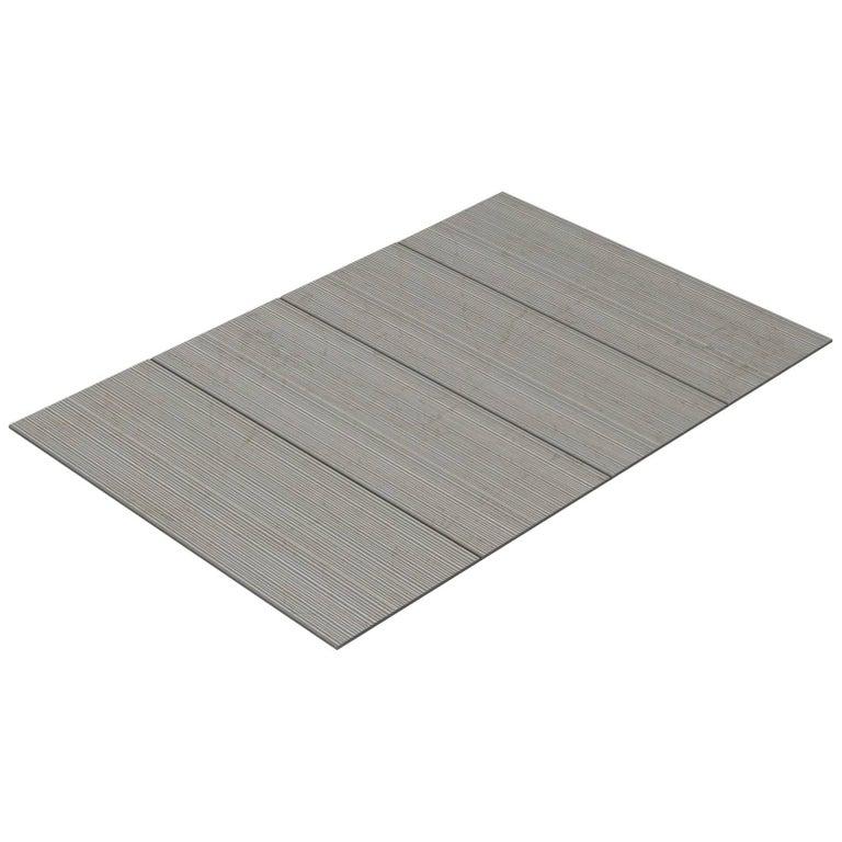 Salvatori Filo Flush 4 / 80 Shower Tray in Bamboo Texture Crema d'Orcia Stone For Sale