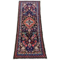 Vintage Persian Hamadan Rug Vibrant Colors