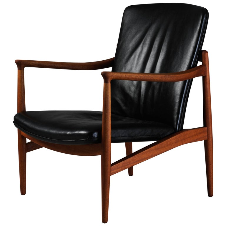 Astonishing Jacob Kjaer Adjustable Lounge Chair Teak Original Black Leather Denmark 1945 Pdpeps Interior Chair Design Pdpepsorg