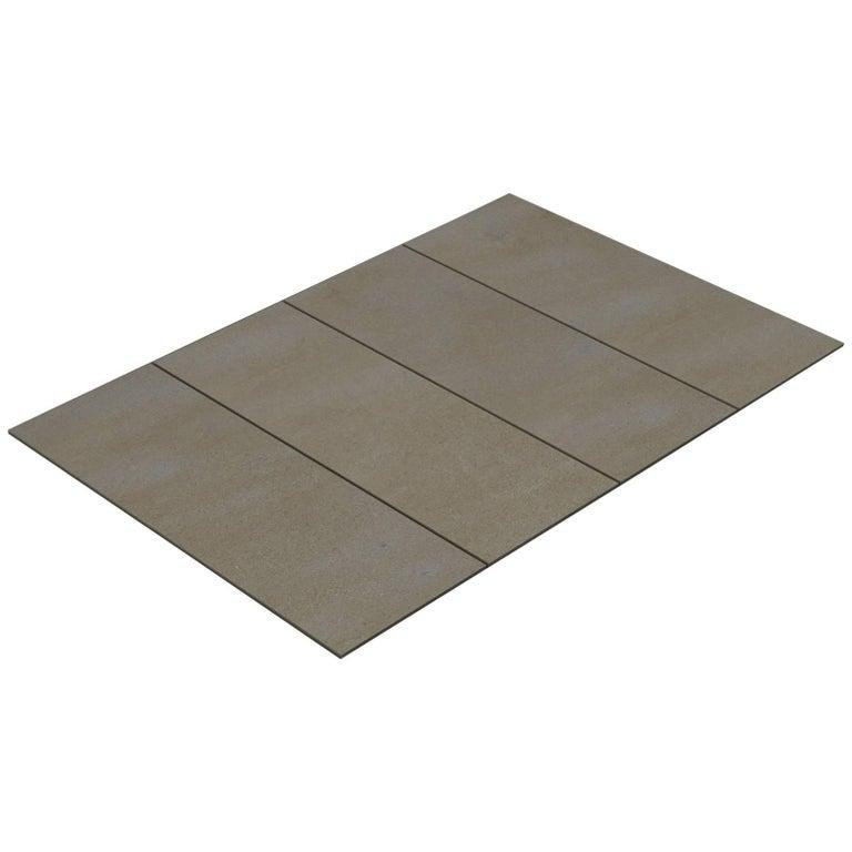 Salvatori Filo Flush 4 / 80 Shower Tray in Sandblasted Piombo Stone For Sale